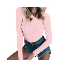 Stretchy Long Sleeve O Neck Bodysuit bodysuit Clothing Clothing_bodysuits display-limited multi-buy-prompt 10