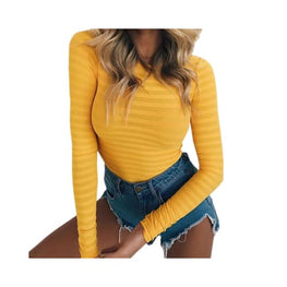 Stretchy Long Sleeve O Neck Bodysuit bodysuit Clothing Clothing_bodysuits display-limited multi-buy-prompt 1
