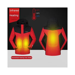 Thermostat Electric Heated Jacket Foreverfly battery heated jacket - body warmer - clothing - Clothing & Accessories
