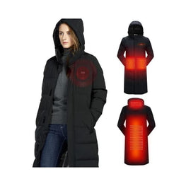 USB heated Outdoor Long Jacket battery jacket body warmer Heated Clothing & Accessories coats Winter Essentials 1