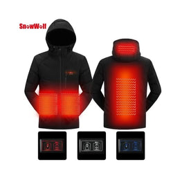 USB Infrared Heating Hooded Jacket Foreverfly battery heated jacket - body warmer - Heated Clothing & Accessories - menswear