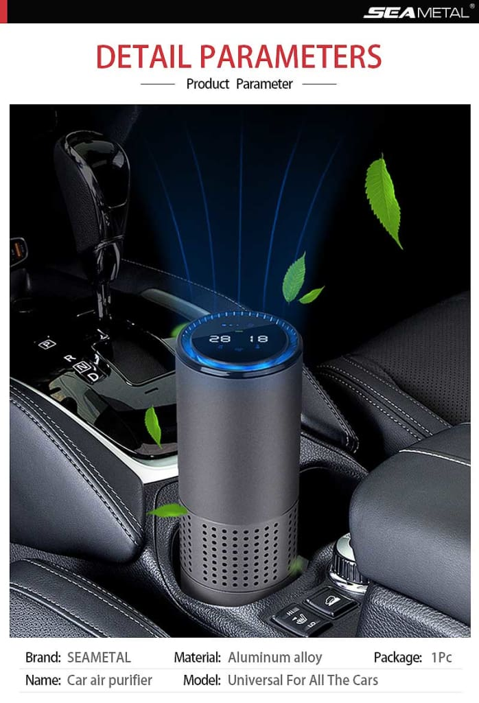Car Air Purifier Universal for Car Air Freshener Interior Auto Fresh Air For Car Home Office Air Cleaner Diffuser Accessories