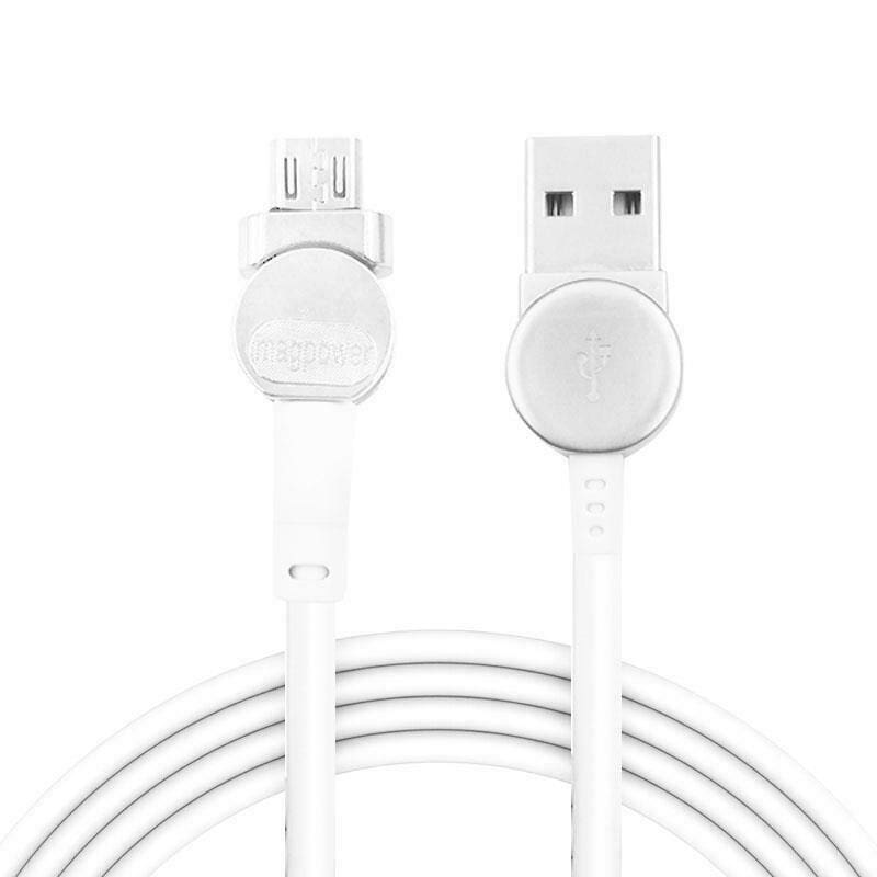 Magnetic USB Type C Cable Data Sync Nylon Braided LED Indicator Magnet Charger Cable 180 Degree Rotating Magnetic Data Line