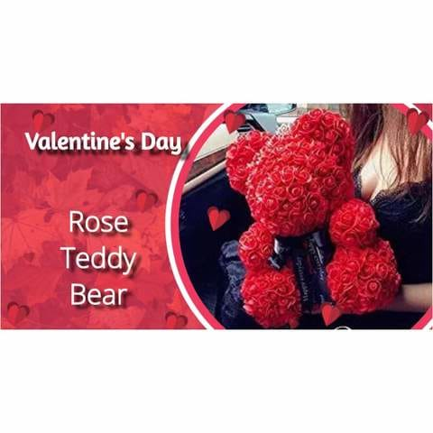 Handmade Rose Bear - The Best Gift For Loved Ones in 2020 anniversary gifts for her birthday gift christmas women floral teddy bear 72