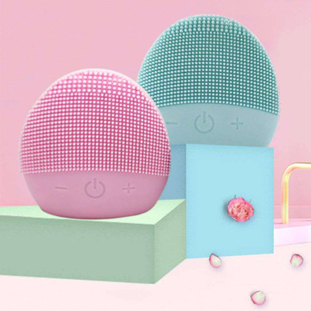 USB Facial Cleansing Brush Sonic Vibration Mini Face Cleaner Silicone Deep Pore Cleaning Electric Waterproof Massage