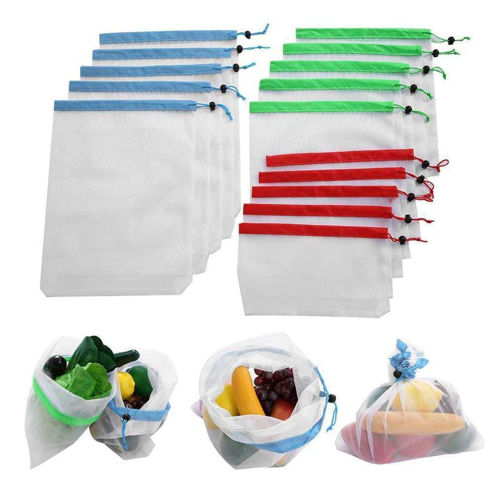 Ecological and Reusable Produce Bags(12pcs/Pack)