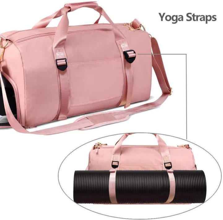 (Free Shipping) Travel Duffel Bag with Dry Wet Pocket & Shoes