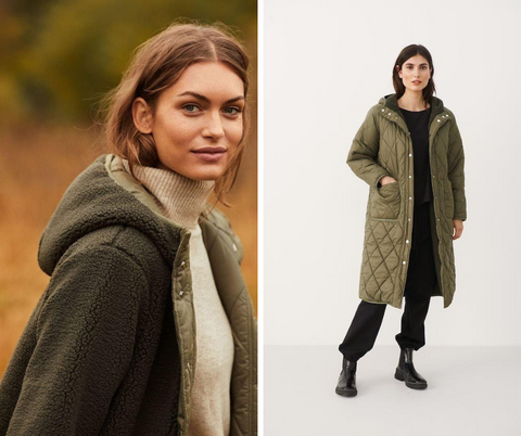 Part Two Katrin Quilted Coat