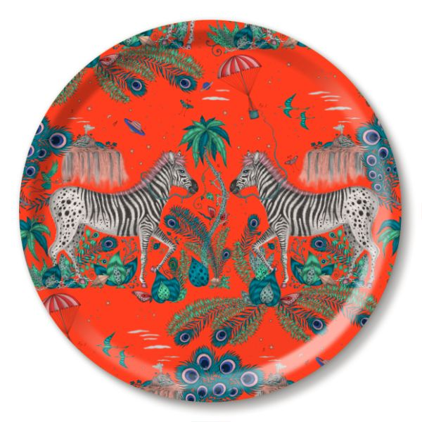 Emma J Shipley 39cm Round Tray - Lost World