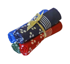 Set of Small Tri-Spot Hankies