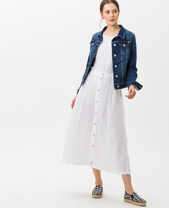 Brax Linen Skirt - Kelly