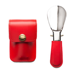 Red Shoe Horn With Pouch
