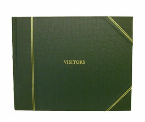 Visitors Book Leather Bound Green - Large