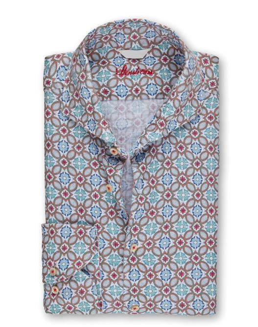 Stenstroms Green Floral Linen Shirt