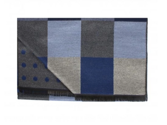 Mens Double Face Scarf - Inky Blue