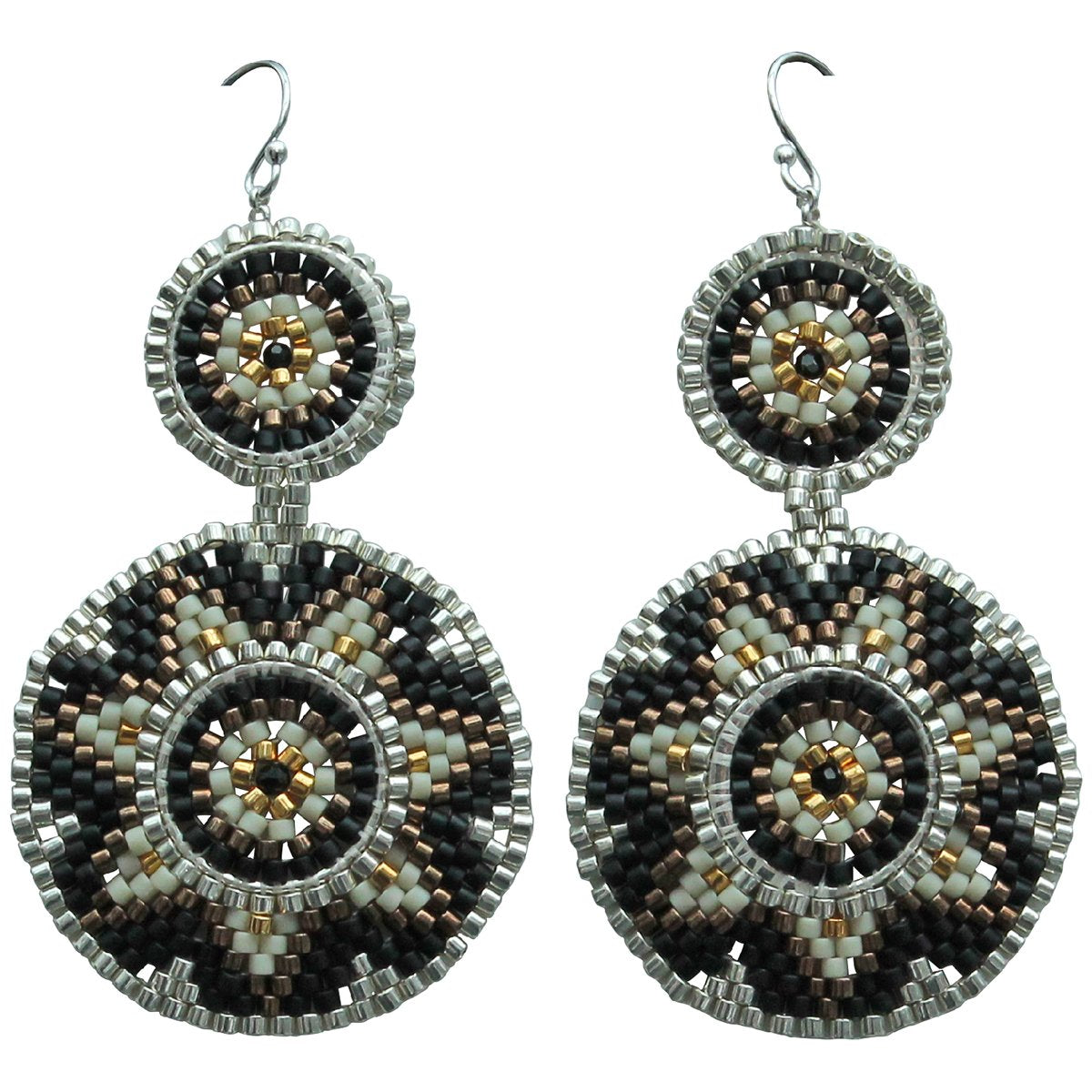Circular Beaded Earrings
