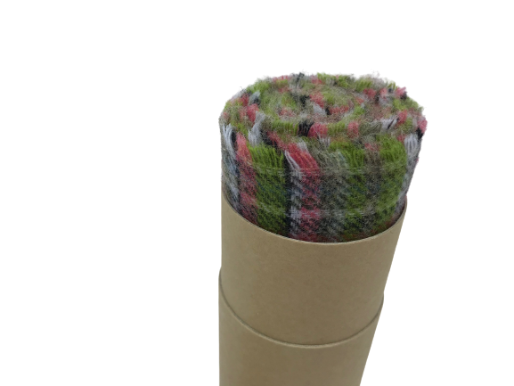 Merino Lambswool Scarf in a Tube - Fanad Mini Check