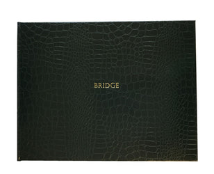 Bridge Book Croc Rexine - Green