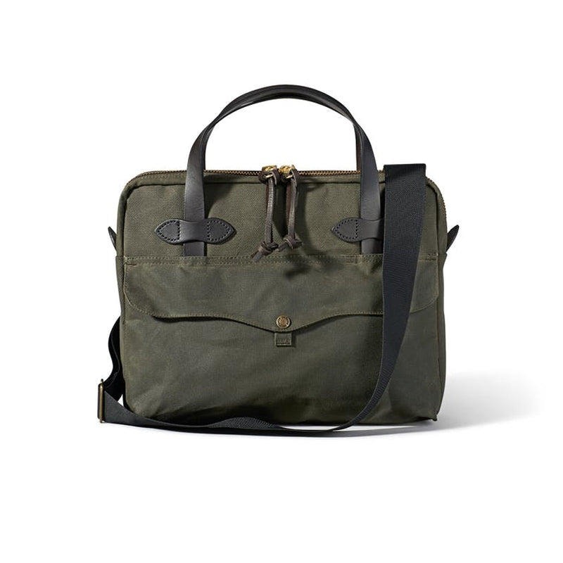 Filson Tablet Briefcase Front - Otter Green
