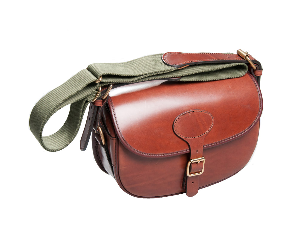 Cartridge Bag - Roxtons Chestnut Leather