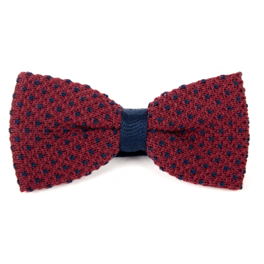 Billy Belt Bow Tie Burgundy