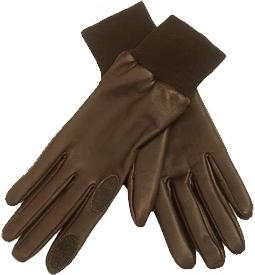 Dents Leather Shooting Gloves, Silk lined