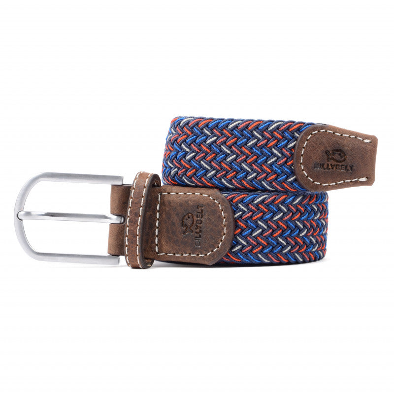Billybelt Woven Elastic belt - Multi Colour Fine Herringbone The Manchester