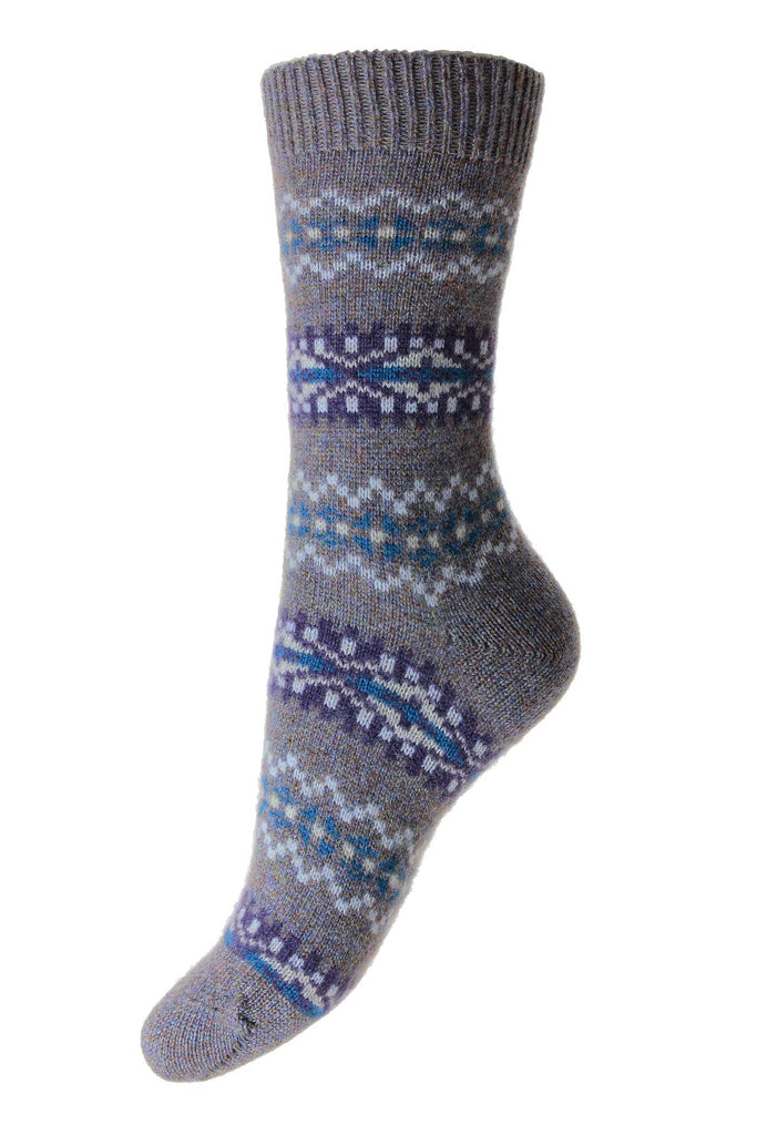Pantherella Fairisle Cashmere Socks