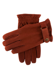 Dents Check & Fleece Lined Nubuck Leather Gloves