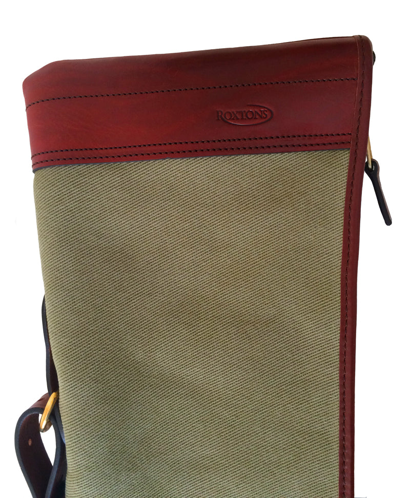 Green/Chestnut Canvas/Leather Gun Slip