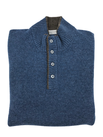 Gran Sasso Lambswool Buttondown Jumper