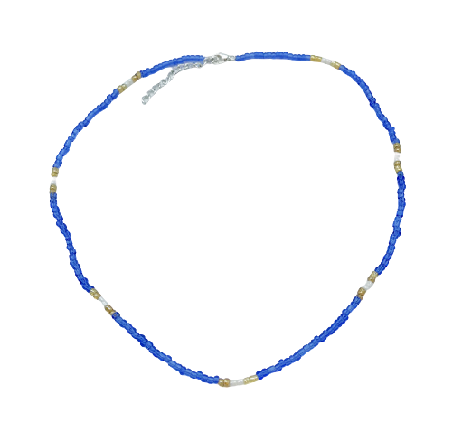 Glass Seed Bead Necklaces - Blues