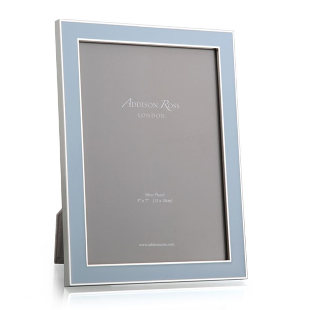 Enamel & Silver Photo Frame 5 x 7""