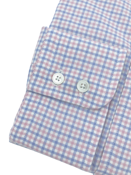 Roxtons Rio Shirt Pink/Blue Check