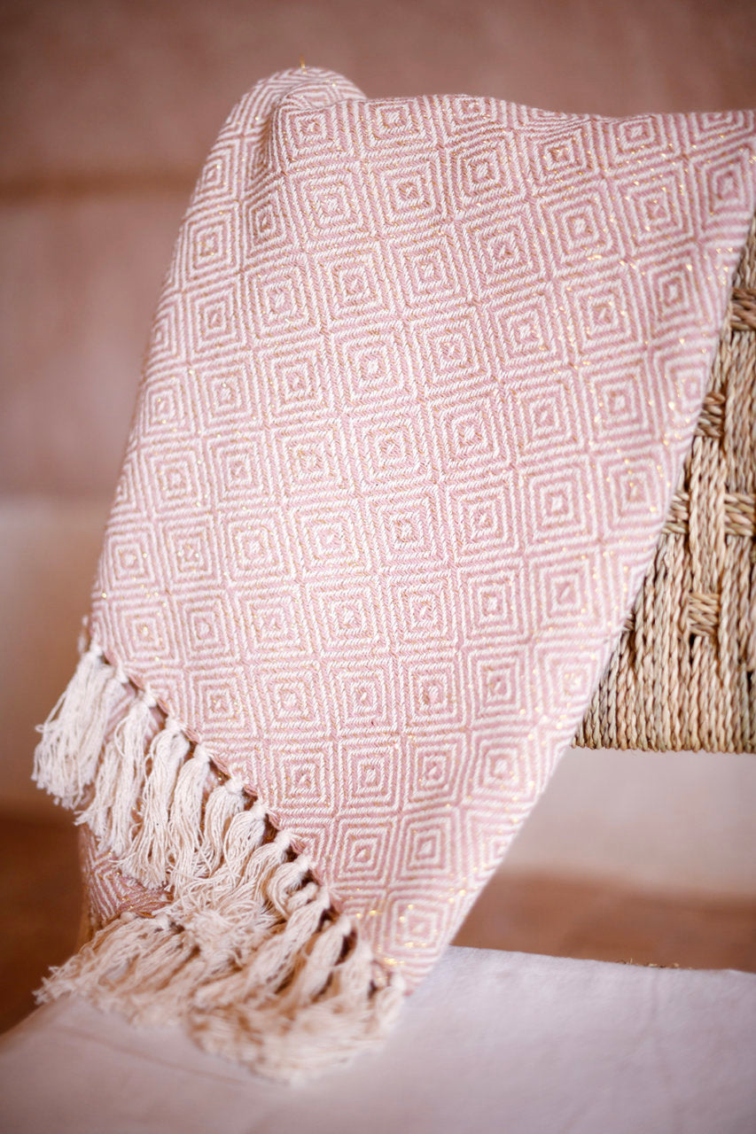 billy cotton sparkle throw Blush