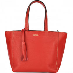 Loxwood Parisien red leather tote