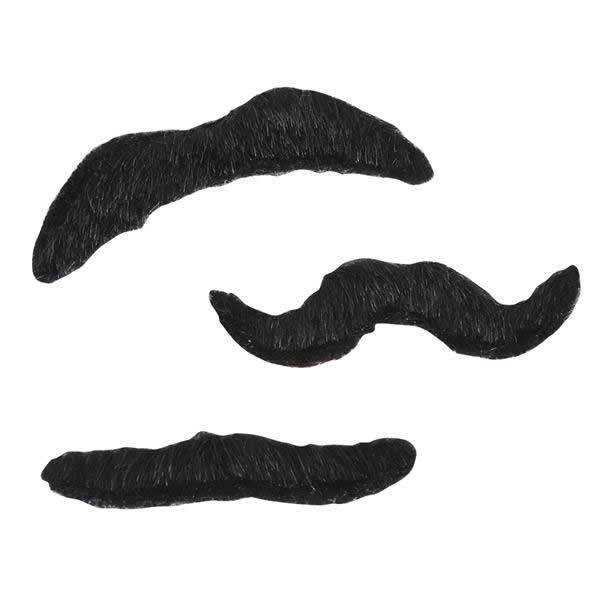 Mustaches - Pack Of 3 by Rinco - Shop GagWorks.com