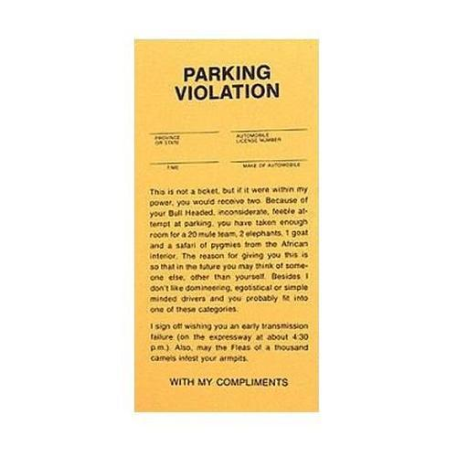 Parking Tickets by Loftus - Shop GagWorks.com