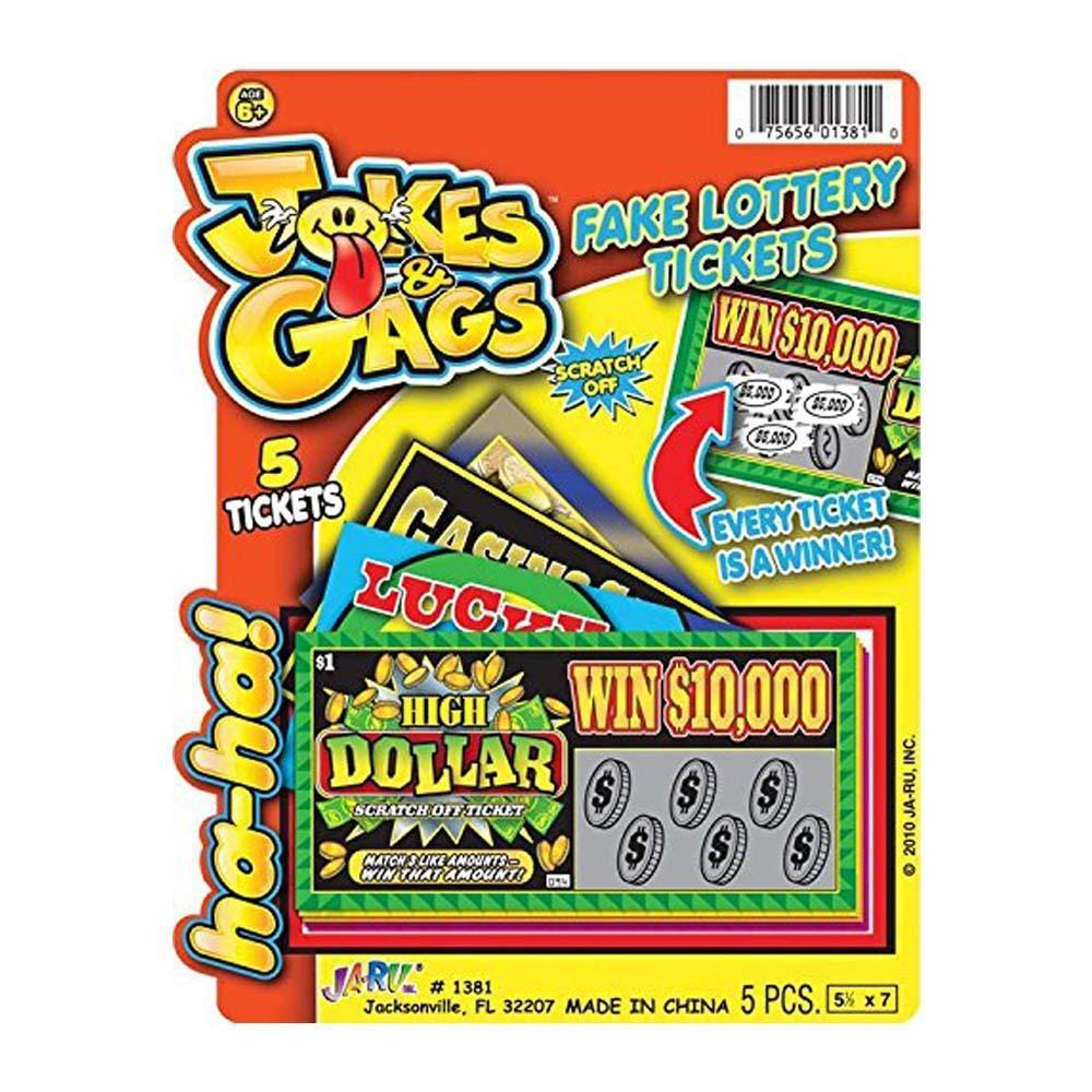 Prank Lotto Tickets - 5 Pack by JaRu - Shop GagWorks.com