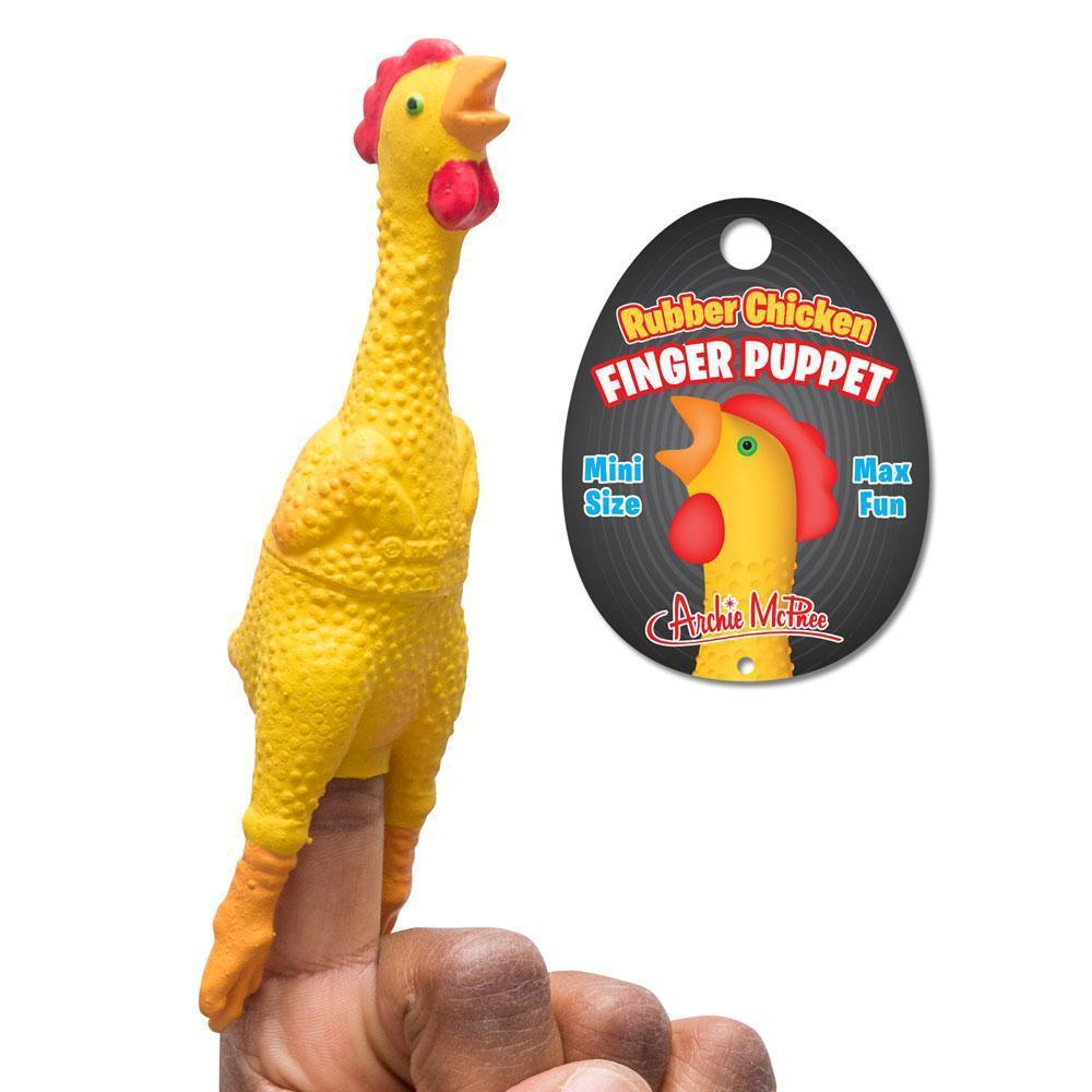 Rubber Chicken Finger Puppet by Archie McPhee - Shop GagWorks.com