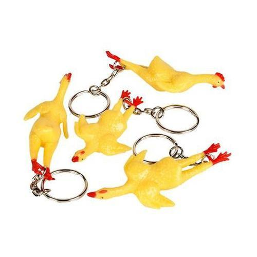 Rubber Chicken Key Chain by Rinco - Shop GagWorks.com