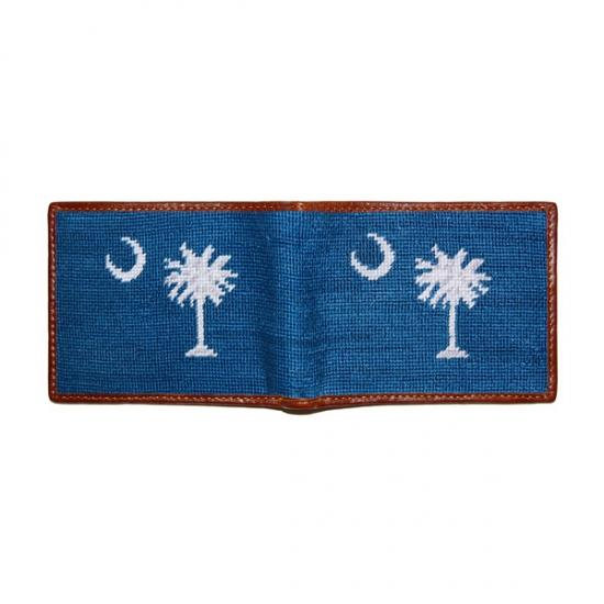 South Carolina Flag Needlepoint Wallet