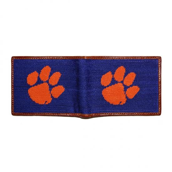 Clemson Needlepoint Wallet