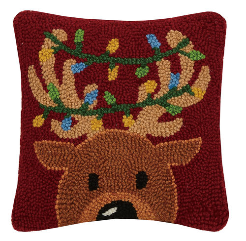 Hook Pillow - Festive Deer