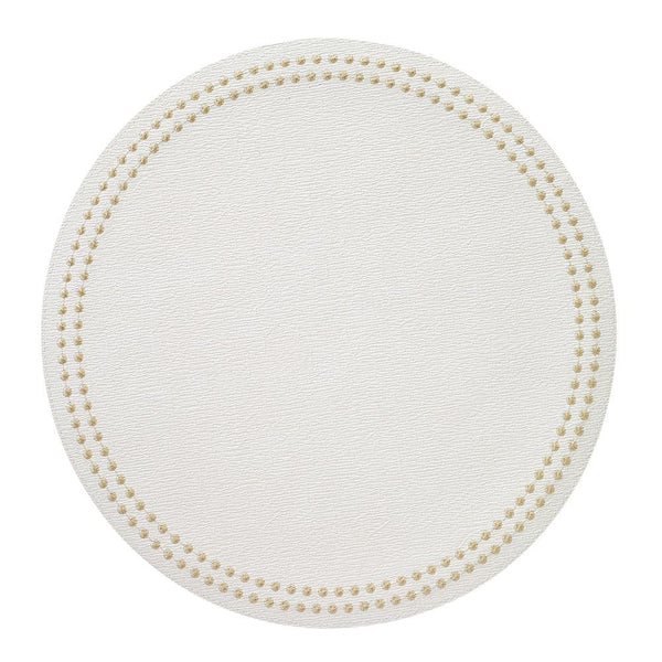 Pearls Easy Care Placemat - White/Gold