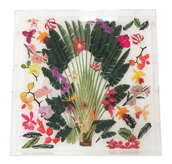 Tropical Fantasia Acrylic Tray