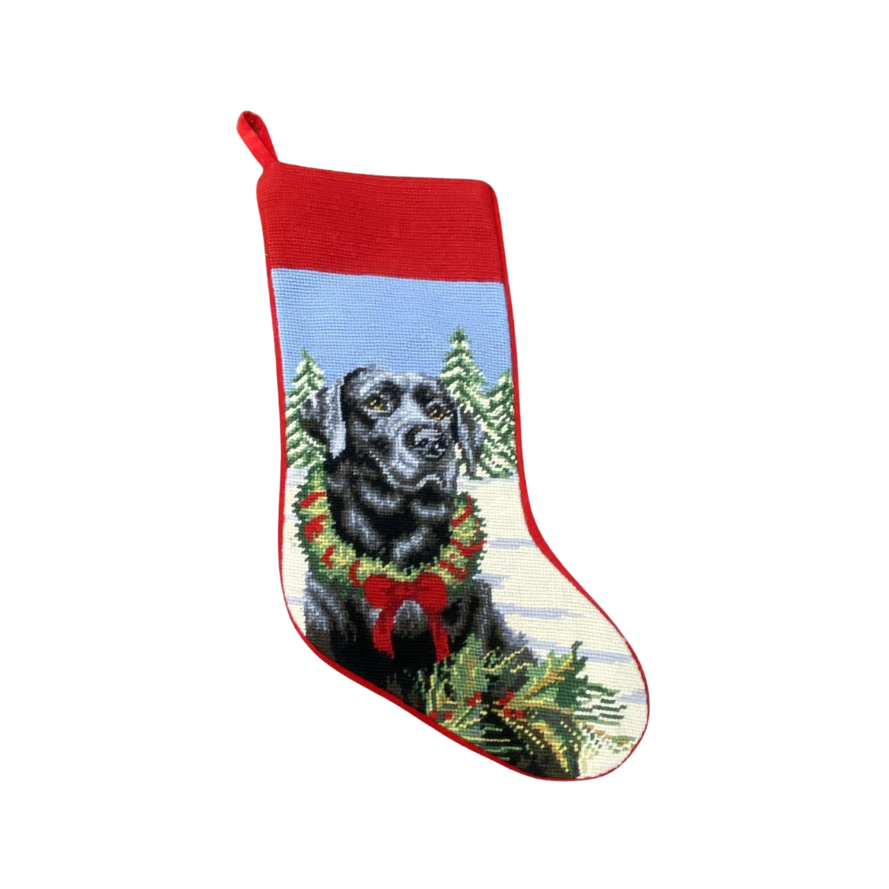 Needlepoint Stocking - Black Lab
