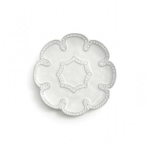 Bella Bianca Beaded Canape Plate