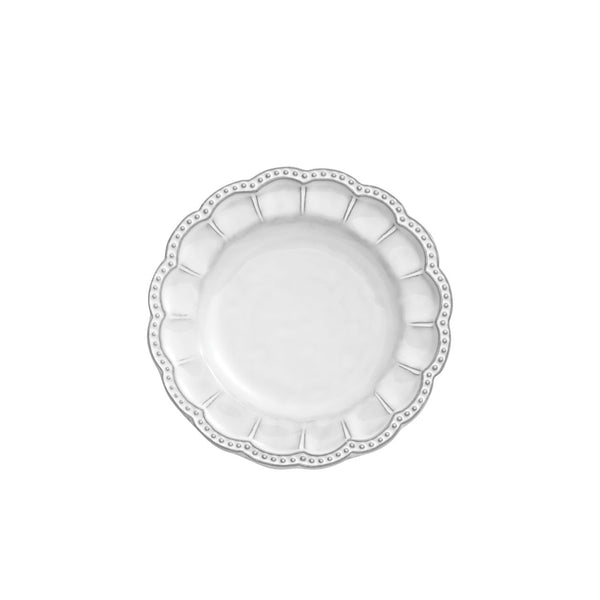 Bella Bianca Beaded Bread Plate