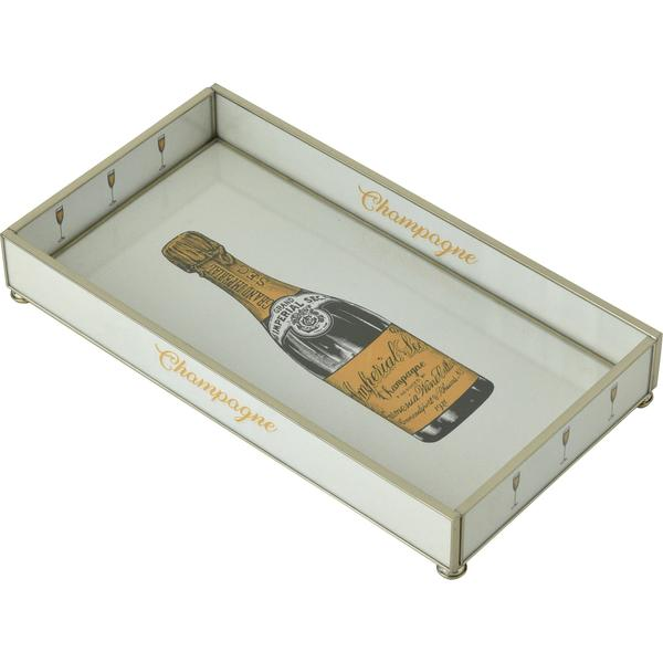 Champagne Bottle Glass Tray